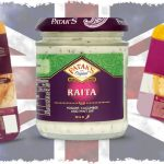 British Curry Accompaniments: Mango Chutney, Mint Raita, Pappadums and Naan Breads