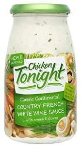 Chicken Tonight Country Fresh Wine and other Sauces available online from Amazon.